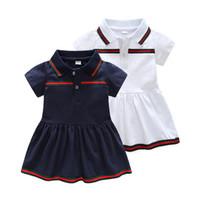 bebek giyim fiyatları düşük toptan satış-Perakende Bebek Kız Elbise 2018 Yaz Kız Elbise Stil İnfantil Elbise Sıcak Satış Bebek Kız Giysileri Yaz Düz Renk Elbise Düşük fiyat