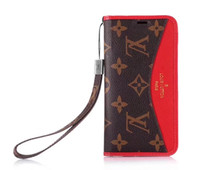 Wholesale lanyard pieces resale online - Luxury Phone Case with card slot lanyard for iphone X XS XR Xs Max plus plus Card Holder Leather Phone Cover for Designer Phone Cases