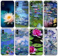 Wholesale lotus iphone online – custom TongTrade Monet Water Lilies Lotus Case For Apple iPhone Pro X Xs Max s s Galaxy A70 A70s A730 Honor X X X Redmi Note Pro Case