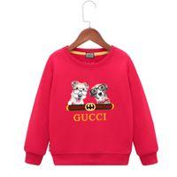 mädchen hund pullover großhandel-Coole Sweatshirts für Jungs 2019 Frühjahr neue Muster Jungen Hoodie Mädchen Kinder Ärmel Kopf Pullover Hund