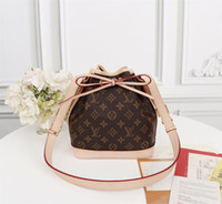 Wholesale cell phone body strap online – custom 2019 Long Shoulder Strap Bucket Bag Noe Bb Handbag M40817 Top Oxidized Real Leather Iconic Bags Cross Body Messenger Bags x22x15cm