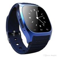 mp3 watch bluetooth водонепроницаемый оптовых-Смарт-часы Bluetooth Спорт водонепроницаемый Smartwatch с набором SMS напомнить MP3 шагомер для IOS Android PK часы dz09 gt08