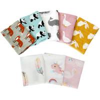 мягкие банные полотенца для новорожденных оптовых-Muslin Cotton Baby Security Blankets 60x60cm Super Soft Newborn Baby Bib Burp Cloth Double Layer Gauze Bath Towel Scarf