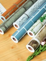 Wholesale chinese dining room wallpaper resale online - Imitation brick pattern wallpaper self adhesive waterproof moisture proof washable dining room furniture decoration bedroom living room wall