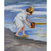 Wholesale art panels for sale online - Edward Henry Potthast paintings for sale Brighton Beach canvas modern Landscapes art hand painted