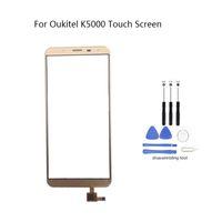 сенсорный экран 5.7 оптовых-For Oukitel K5000 Mobile Front Touch Screen Glass Digitizer Panel Lens Sensor Flex Cable Free Tools 5.7 inch