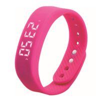 pulsera w2 al por mayor-T5 Smart Bracelet Step 3D Medidor inteligente Reloj de pulsera Mujer Deporte LED Fecha automática Relojes Pulsera PK TW64 W5 W2