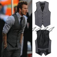 Wholesale chinese mixed clothes for sale - 2019 Tailored Mens Grey Wedding Groom Vest New Wedding Dress Vest Groomsmen Vest Casual Slim Men s Clothing Top Outfit