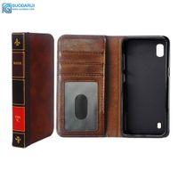 i̇ncil kitapları toptan satış-Flip Deri cep Telefonu Kılıfı için Samsung galaxy A10 A20 Kapak Cüzdan Retro İncil Vintage Kitap İş Kılıfı