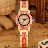 Wholesale butterfly shaped watch resale online - New Fashion Simple Octagon Case Design Women s Nature Wooden Quartz Watch Analog Display Luminous Hands Watches Bamboo Bracelet Strap Gift