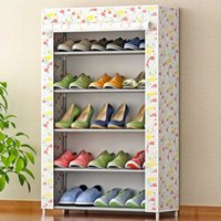 Wholesale large tiers for sale - Group buy 5 Tier Dustproof Shoe Racks Shelf Large Size Non Woven Fabric Shoes Rack Shoes Organizer for Home Bedroom Dormitory