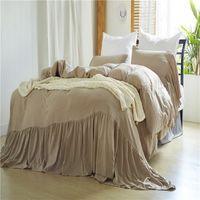 rainha sereia venda por atacado-Conjuntos de cama de cama queen size rei queen size beddingset lavado sereias 3 PCS (1 capa de edredon + 2 fronhas) conjuntos de cama consolador