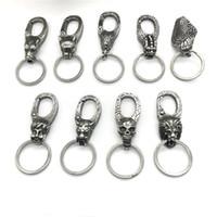 metal anahtarlık tasarımları toptan satış-Yeni Tasarım 316l Paslanmaz Çelik Vintage Hayvan Anahtarlık Erkek Kadın Moda Takı Anahtarlık Araba Anahtarlık Hediyeler