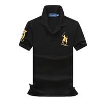 ralph tişörtleri toptan satış-Polo Erkek Tasarımcı T Gömlek Siyah Sarı Yeşil Tasarımcı Gömlek ralph marka lauren Erkek Kadın T Gömlek Klasik moda tee Kısa Kollu S-XXL
