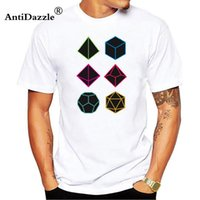 Wholesale dragon art prints resale online - casual t shirt Roll Dungeons Dragons Line Art Series Summer Newest Cool Geometric Print Tops Tee O Neck T Shirt