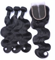 Wholesale buy straight hair for sale - Group buy A Indian Straight Body Deep Loose Wave Buy Bundles Get Free Closure Unprocessed Virgin Jerry Curly Brazilian Hair Wefts
