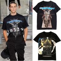 ingrosso bel t-shirt uomo-2019 Design T Shirt Uomo Stampa grafica Cotone Tempo libero Nizza Qualità Moda manica corta Tshirt da uomo