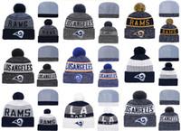 en iyi örme şapkalar toptan satış-Sıcak Satış Los Angeles Rams En Kaliteli Dikişli Örgü Şapkalar Tüm Ekipleri Karışık kış Örme Kapaklar Can