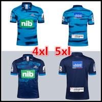 les vêtements achat en gros de-grande taille 4xl 5xl! New Zealand Super Rugby Blues Domicile et Maillot Extérieur 2019 Blues Rugby Jerseys Chemise de vêtements décontractés
