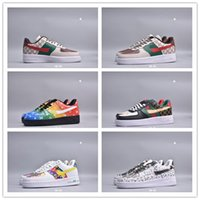 Wholesale woman campus shoes resale online - 2020 New Fashion Running Shoes Men Women Hand Painted Graffiti Low Top Two Layer Leather Casual Fashion Campus Trend Board Shoes