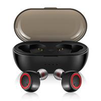 micrófono táctil al por mayor-Mini Invisible Touch Auricular Llamadas Auriculares inalámbricos Bluetooth 5.0 TWS Earbud Cancelación de ruido con micrófono para iphone 8 XS android Sport