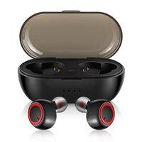 drahtloses bluetooth-rauschen großhandel-Mini Invisible Touch Kopfhörer ruft drahtlosen Kopfhörer Bluetooth 5.0 TWS Earbud Noise Cancelling mit Mikrofon für iPhone 8 XS Android Sport