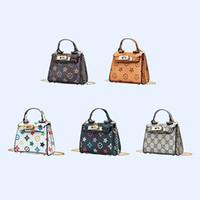 bonito estilo bolsas venda por atacado-Presentes crianças desenhador bolsas da forma das meninas mini-princesa bolsas PU Cross-corpo bonito circulares Bolsas Crianças Natal 5 estilos