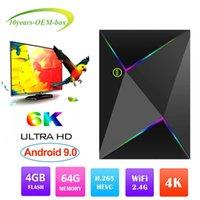 usb 265 venda por atacado-New hot m9s z8 allwinner h6 smart android 9.0 caixa de tv 4 gb 32 gb 4g h.265 usb 3.0 pk x96 max set pci x10 box top 4 gb 64 gb s905x2