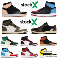 Wholesale boys shoes size 12 new resale online - New Jumpman s OG Mens Basketball Shoes High Low Travis Scotts Bloodline UNC to Chicago Gym Red Designer Sneakers Size