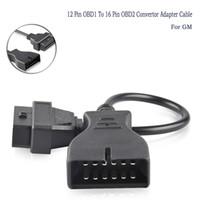 obd 16 großhandel-Für GM OBD 12 Pin OBD1 zu 16 Pin OBD2 Konverter-Adapter-Kabel Diagnosescanner 6.12