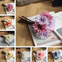 Wholesale flower daisies for sale - Group buy African Daisy flowers Colors Fake Flowers Elegant Gifts for Wedding Centerpieces Home Party Dinning Restaurant Decorative Flowers T2I250
