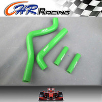 Wholesale new radiators for sale - Group buy brand new silicone radiator hose kit fits for KX125 KX GREEN