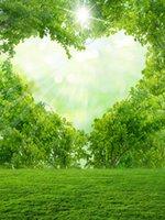 amor da fotografia venda por atacado-Bokeh Mancha Árvore Verde ensolarado amor do coração Vinyl Fotografia Backdrops Dia dos namorados Photo Booth Fundos para o casamento romântico Estúdio Props