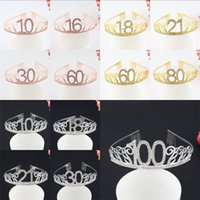 Wholesale crown ornaments christmas for sale - Group buy 16 Birthday Digital Crown Bride Banquet Hair Ornament Creative Fashion Hairs Hoop With Various Pattern yc J1