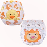 Wholesale baby training diapers resale online - 1 Baby Diapers Reusable Training Pants Cartoon Animal Baby Training Pants Nappy Washable Cotton Learning