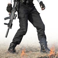 calças de swat preto venda por atacado-Calças táticas Do Exército Militar Carga Calças Homens Trabalham Pantalones Macacão Hombre de alta qualidade SWAT Airsoft Combat Pant Calças PretasMX190903