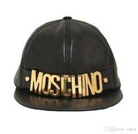 şapkaları göster toptan satış-Yapay Deri MOS Beyzbol Şapkası Yaz Gelgit Güneş Kremi Spor Kap Ayarlanabilir Hip Hop Şapka Severler Kap Doruğa Unisex Modeli Göster ...
