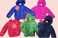 шерстяные куртки для девочек-цветочниц  оптовых-Детская куртка бренда мальчиков и девочек зимнее теплое пальто с капюшоном детская одежда детская хлопковая одежда детские куртки