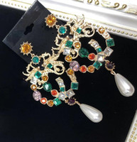 hochwertige aaa schmuck großhandel-Frauen Luxus Designer Ohrring Retro Vergoldet AAA Kristall CZ Ohrringe Berühmte Europäische Marke Hohe Qualität Schmuck Schnelles Verschiffen