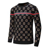 xxl frauen wolljacke großhandel-19er Jahre Herren schwarz gestreift gestrickte Wolle Tiger gesticktes Sweatshirt Herren Marke Damen Sport Pullover Jacke Jacke Pullover Design Cardigan