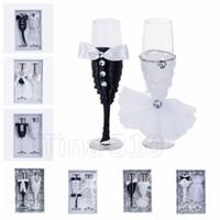 blumenstrauß champagner großhandel-Kristall Champagner Glas Hochzeit Toast Glas Bouquet Becher Hochzeit Empfang Bar Familie Dekoration Becher Hochzeit Dekoration T2I5087