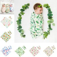 Wholesale towel hair bands resale online - Newborn Wrapped Towel Set Newborn Rabbit Ear Knotted Hair Band Swaddle Blanket Baby Photo Prop Bathing Towels
