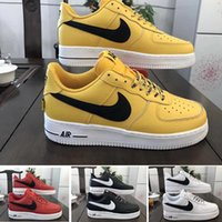Wholesale casual shoes design resale online - 2020 Sale New Design Forces Men Low Skateboard Shoes Cheap One Unisex Knit Euro Air High Women All White Black Red Casual Shoes HH396