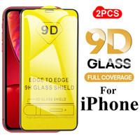 película transparente roja al por mayor-2019 9D Advanced Protective Glass para iPhone 11 iPhone 11 Pro / Pro Max / X / XR XS / XS Max / 7/8 / 7P / 8P / 6S / 6SP Protector de pantalla Película de vidrio templado