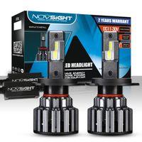 Wholesale h11 bulb bright resale online - NOVSIGHT LM H4 H7 H11 LED Headlight Light K White W Pair LM Bulb Bulbs Fog Lamp White Extremely Bright