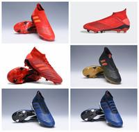 85758b9a08bf 2018 new arrival mens soccer cleats Predator 19.1 FG 18.1 soccer shoes  Predator 19 FG 18 football boots Shadow Mode botas de futbol