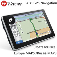 Wholesale tft lcd car resale online - Wetowe G4 inch TFT LCD Touch Screen Car GPS Navigation The Latest map for Europe and Russia WITH FM Multimedia Player