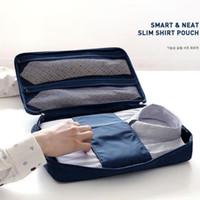 ingrosso organizzatore di viaggi d'affari-Business Men Travel Shirt Tie Bag Organizer Borsa portatile Super leggero Organizzatore di imballaggio