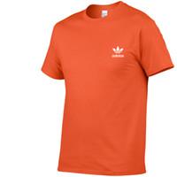 новые бренды спортивной одежды оптовых-2019 Мужская дизайнерская футболка Adids New Sports Brand Футболка сплошного цвета Мужская футболка с принтом 100% Летняя одежда для скейтборда