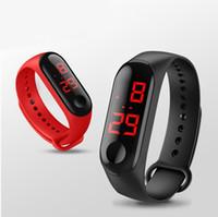 rote kinderuhr großhandel-Fashion Outdoor Einfache Sport Rote LED Digital Armbanduhr Männer Frauen Bunte Silikonuhren Kinder Kinder Armbanduhr Geschenk